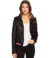 Blank NYC - Vegan Leather Elastic Band Moto Jacket in Frisky Business