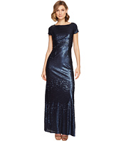 Adrianna Papell - Short Sleeve Sequin T Shirt Gown