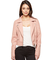 Blank NYC - Vegan Leather Moto Jacket in Pretty In Pink