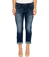 KUT from the Kloth - Petite Amy Crop Straight Leg Roll Up Frey Jeans in Celebration