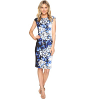 Vince Camuto - Printed Extended Cap Sleeve Bodycon Dress