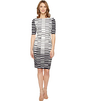 Vince Camuto - Printed Knit Bodycon Dress with Ruching