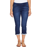 Liverpool - Petite Sienna Pull-On Rolled-Cuff Capris on Silky Soft Denim in Havasue Deep