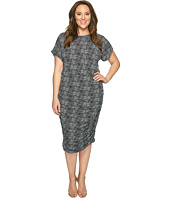 Vince Camuto Specialty Size - Plus Size Short Sleeve Delicate Pebbles Ruched Dress