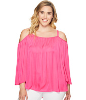 Vince Camuto Specialty Size - Plus Size Long Sleeve Cold Shoulder Blouse
