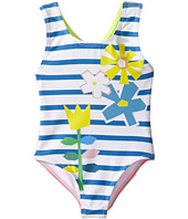 Stella McCartney Kids - Molly Striped Floral One-Piece Swimsuit (Toddler/Little Kids/Big Kids)