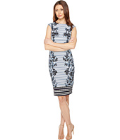Vince Camuto - Printed Extended Cap Sleeve Bodycon
