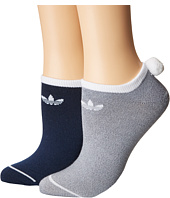 adidas - Originals Pom 2-Pack No Show Socks