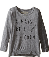 The Original Retro Brand Kids - Always Be A Unicorn 3/4 Pullover (Big Kids)