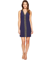 Laundry by Shelli Segal - Sleeveless Beaded V-Neck Dress