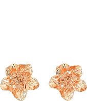 Oscar de la Renta - Bold Flower Button C Earrings