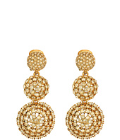 Oscar de la Renta - Pave Crystal Dome Drop C Earrings