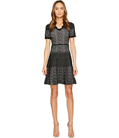YIGAL AZROUËL - Snakeskin Jacquard V-Neck Dress