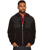 Levi's® - Mixed Media Two-Pocket Hooded Open Bottom Jacket