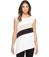 Calvin Klein - Sleeveless Angle Bottom Top with Stripe
