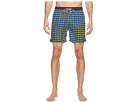 Medium Length Swim Shorts in Fine Peached Quality with Pattern