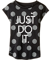 Nike Kids - Polka Dot Just Do It Dri-Fit A-Line Tee (Little Kids)