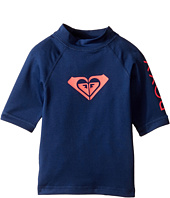 Roxy Kids - Whole Hearted Short Sleeve Rashguard (Toddler/Little Kids/Big Kids)
