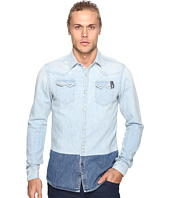 Scotch & Soda - Ams Blauw Denim Sawtooth Shirt