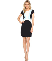 Vince Camuto - Crepe Cap Sleeve Color Block Shift Dress