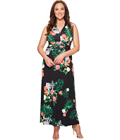 Vince Camuto Specialty Size - Plus Size Sleeveless Havana Tropical Halter Maxi Dress