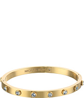 Michael Kors - Tone and Crystal Hinged Bangle Bracelet