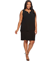 Calvin Klein Plus - Plus Size Sleeveless Pleat Dress with Chain