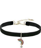 Betsey Johnson - Pave Rainbow Charm Choker Necklace