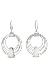 Robert Lee Morris - Geometric Shell Multi Row Gypsy Hoop Earrings
