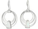 Geometric Shell Multi Row Gypsy Hoop Earrings
