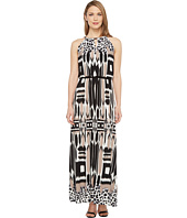 London Times - Printed Jersey Maxi Dress