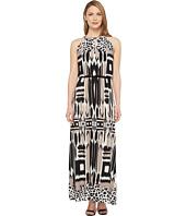 London Times - Printed Jersey Maxi Dress