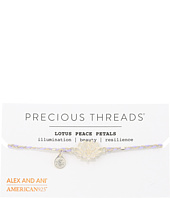 Alex and Ani - Precious Threads - Lotus Peace Petals Periwinkle Braid Bracelet
