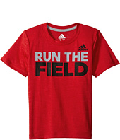 adidas Kids - Run the Game Tee (Big Kids)