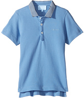 Lanvin Kids - Short Sleeve Polo Shirt w/ Contrast Collar & Logo Detail (Toddler/Little Kids)