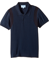 Lanvin Kids - Short Sleeve Polo w/ Logo Detail On Front (Little Kids/Big Kids)