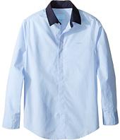 Lanvin Kids - Long Sleeve Button Down Shirt w/ Contrast Collar (Little Kids/Big Kids)