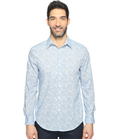 Perry Ellis - Long Sleeve Graphic Linear Print Shirt