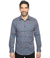 Perry Ellis - Long Sleeve Abstract Floral Print Shirt