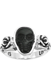 King Baby Studio - Obsidian Skull & Rose Ring