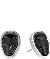 King Baby Studio - Obsidian Skull Stud Earrings