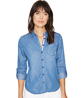U.S. POLO ASSN. - Color Block Tencel Denim and Twill Shirt