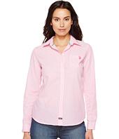 U.S. POLO ASSN. - Long Sleeve Striped Poplin Woven Shirt