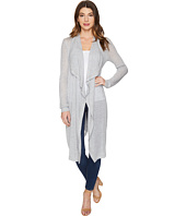 Three Dots - Melange Drape Front Cardigan