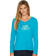 Life is Good - Happy Hour Tiny Hearts Long Sleeve Crusher Vee