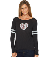 Life is Good - Baseball Heart Long Sleeve Vintage Sport Tee