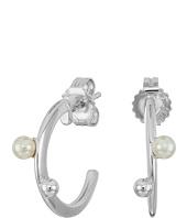 Majorica - Hoop Post Pearl Earrings