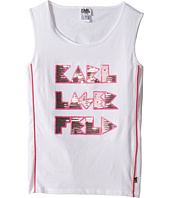 Karl Lagerfeld Kids - Tank Top w/ Contrast Piping & Sequin Graphics (Big Kids)