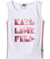 Karl Lagerfeld Kids - Tank Top w/ Contrast Piping & Sequin Graphics (Toddler)