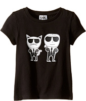 Karl Lagerfeld Kids - Short Sleeve Mini Me with Front/Back Print (Toddler)